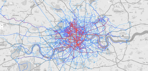 2018 London Strava Heatmap - Ambjorn