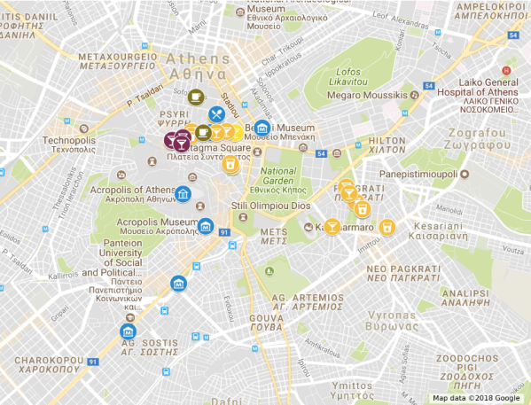 2018 Athens Bars, Restaurants, Museums etc. http://bit.ly/2018AthensMap
